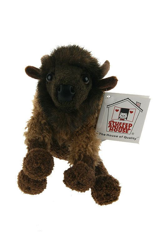 Stuffed Animal House Baby Shaggy 6 Buffalo Brown Floppyfoot Friend