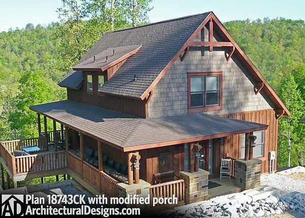 Plan 18743CK: Clic Small Rustic Home Plan in 2019 | Small ... on home plans one-bedroom, home plans for beach house, home narrow lot house plans,