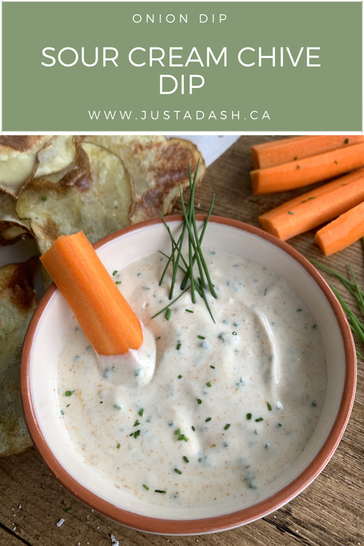 Sour Cream And Chive Dip Just A Dash Sour Cream Chive Dip Recipe Sour Cream Chives Chives Dip Sour Cream Chive Dip
