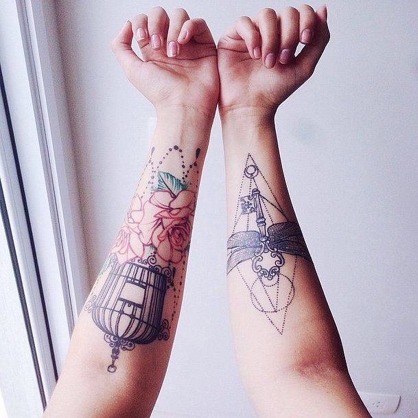 Geometric Bewitched Key Harry Potter Tattoos Tattoos Geometric Tattoo