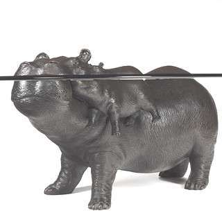 Hippo Coffee Table animal sculpture furniture | animal sculptures and coffee