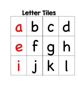 You Can Use These Simple Letter Tiles For Word Building Or In A