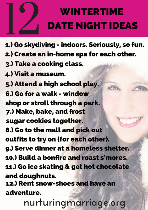 12 wintertime date night ideasare you running out of date night