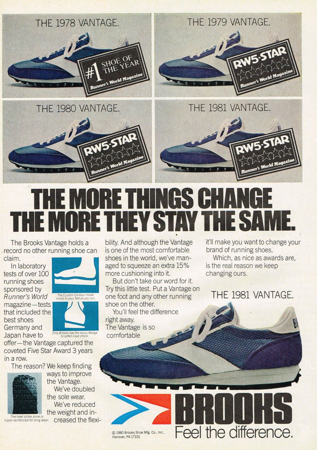 778779a0234c 1981 Brooks Vantage Running Shoe Print Ad  Instant Download  by DigiAds on  Etsy