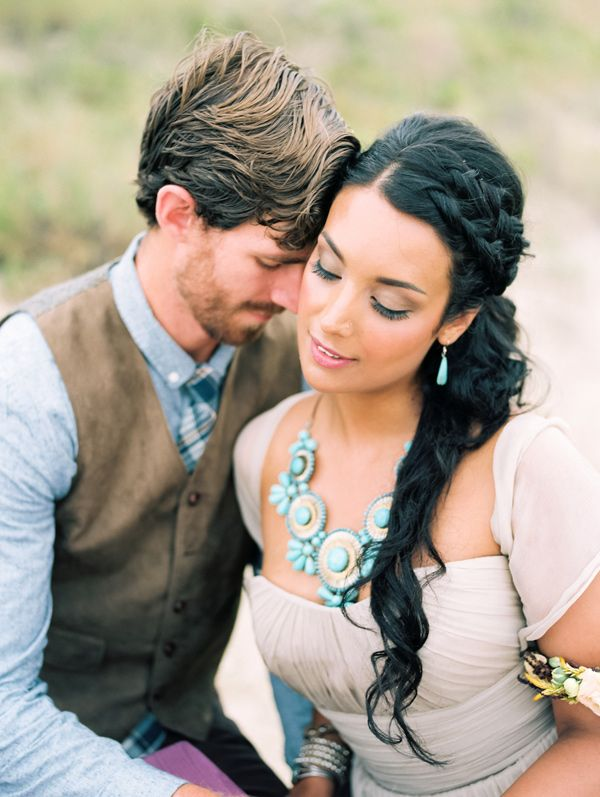 Bohemian Colorado Elopement Turquoise wedding jewelry Turquoise