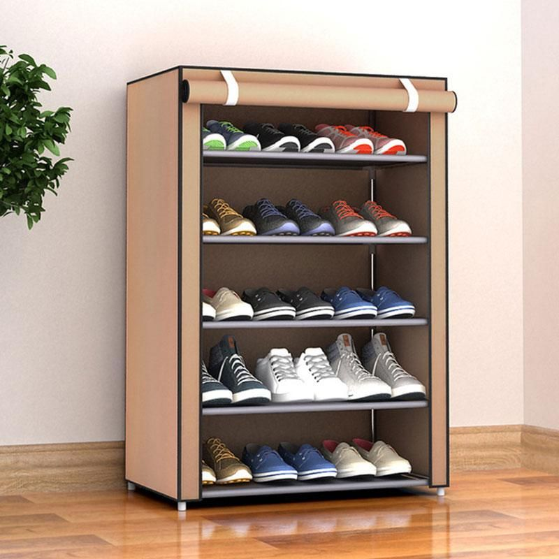 Simple Shoe Rack Dust Proof Storage Shoe Cabinet Multi Layer Small Shoe Rack In 2020 Shoe Rack Organization Shoe Rack Hallway Shoe Organization Closet