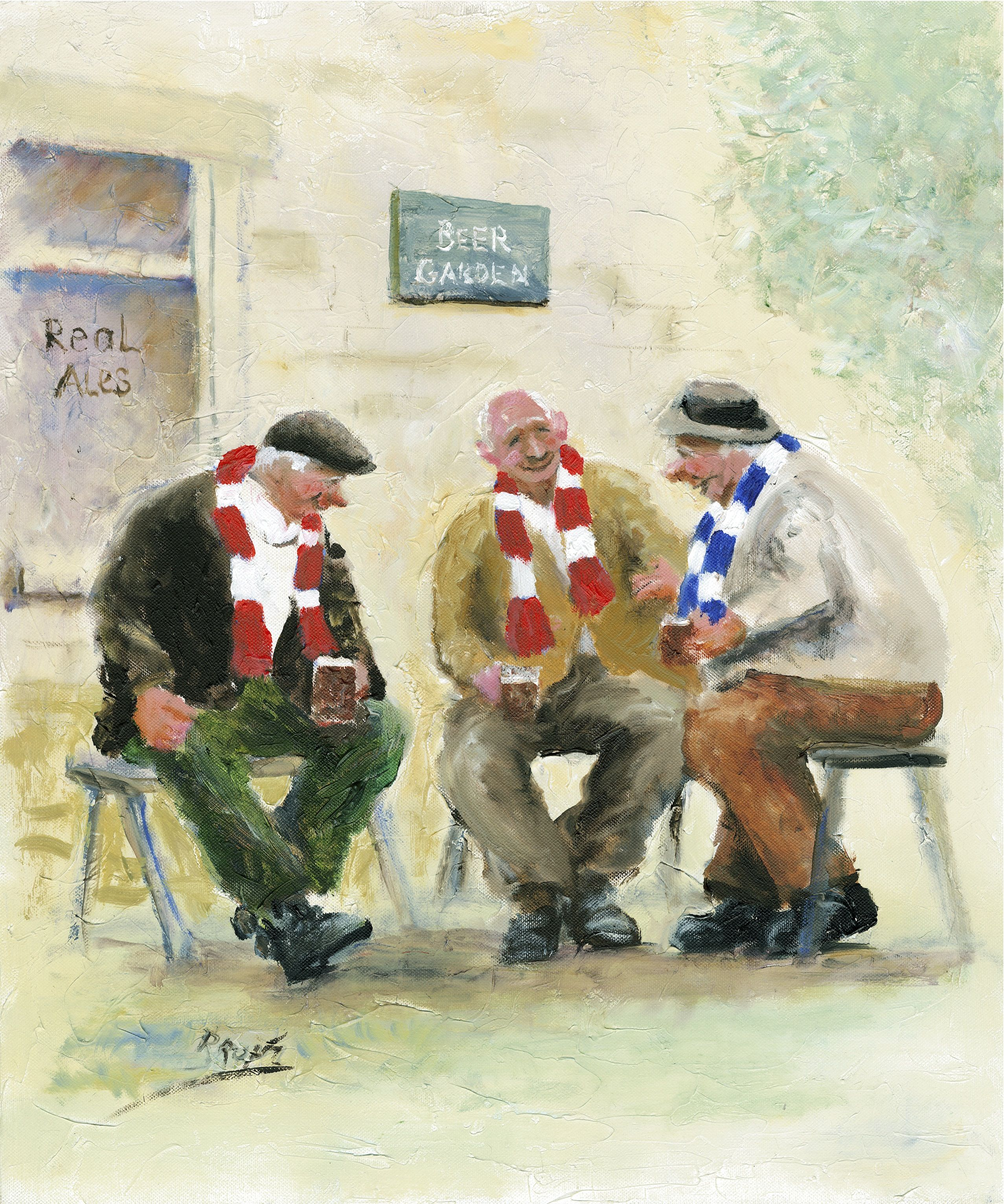 'In The Beer Garden' Prints Des Brophy Paintings