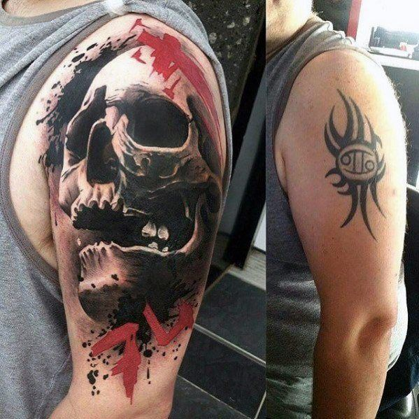 Top 57 Tattoo Cover Up Ideas 2020 Inspiration Guide Best Cover Up Tattoos Cover Up Tattoos For Men Tattoos