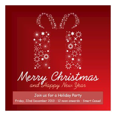 Free Christmas Invitation Templates Fill In The Blanks And Customize To Create Your Own Unique Personal Holiday Use