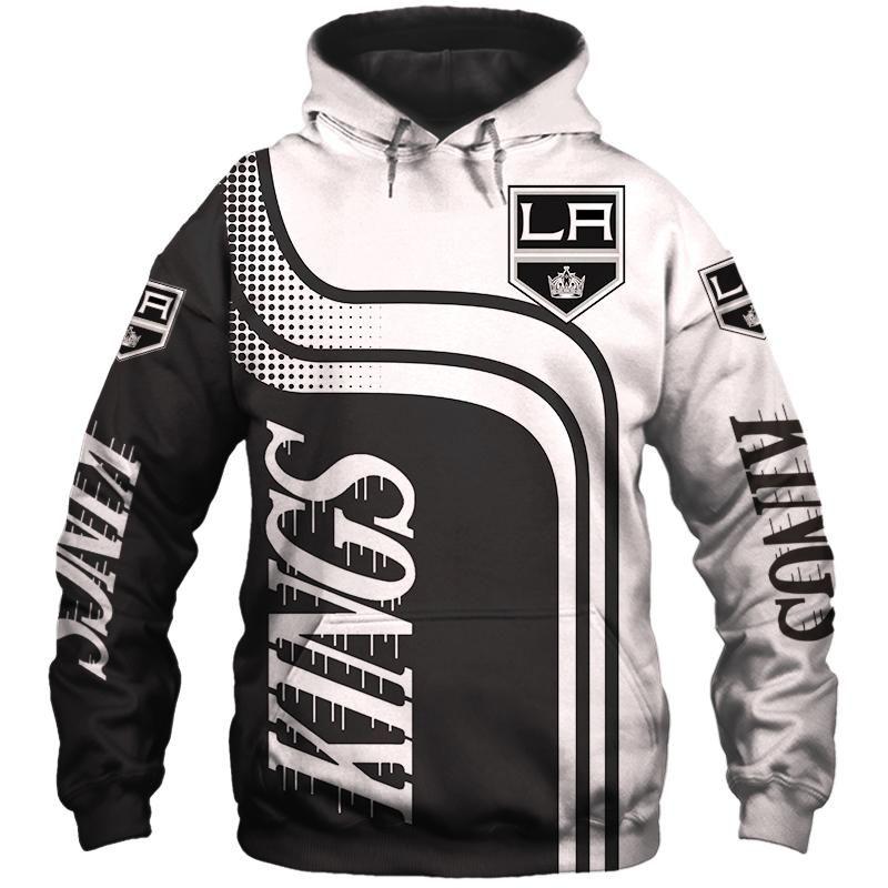 Los Angeles Kings Zip Hoodies 3d With Hooded Long Sleeve Zip Hoodie Hoodies For Sale Hoodies