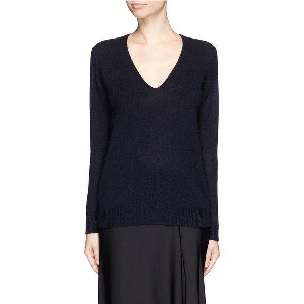 Theory 'Adrianna RL' cashmere V-neck sweater (1.755 DKK) ❤ liked ...