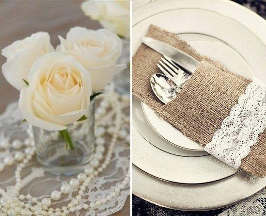 Lace Wedding Decor I Like The Idea Of Adding Pearl Strands Gotta Have