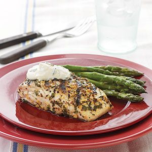 Grilled amberjack with country style dijon cream sauce for Amberjack fish recipes