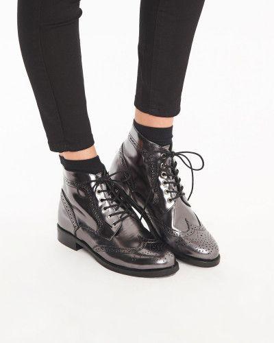 qualité supérieure 2019 meilleurs bons plans 2017 Boots en CUIR MÉTALISÉ VEAU Etain - Boots - Susie - Minelli ...