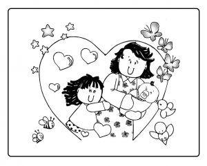 Hojas Para Colorear Del Dia De Las Madres Feliz La Madre