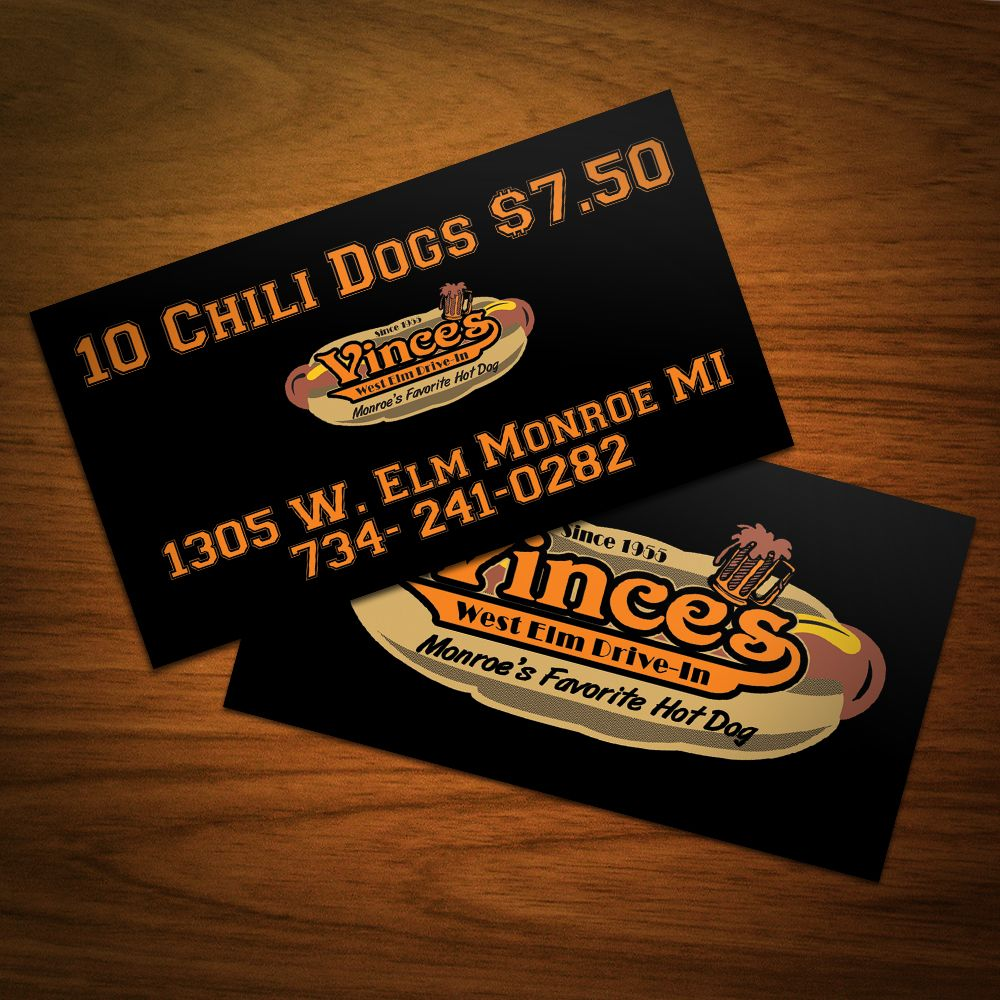 Business card design i did for a local hot dog stand business business card design i did for a local hot dog stand magicingreecefo Choice Image