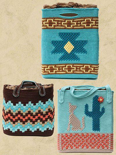 Crochet Handbag Patterns - Native American Totes Crochet Pattern ...