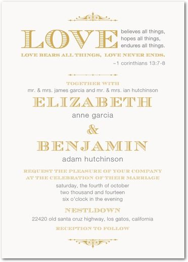 corinthians wedding invitation beautiful vintage feel perfect for a christian wedding - Religious Wedding Invitations