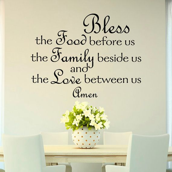bless the food before us wall decal quote prayer stickers vinyl