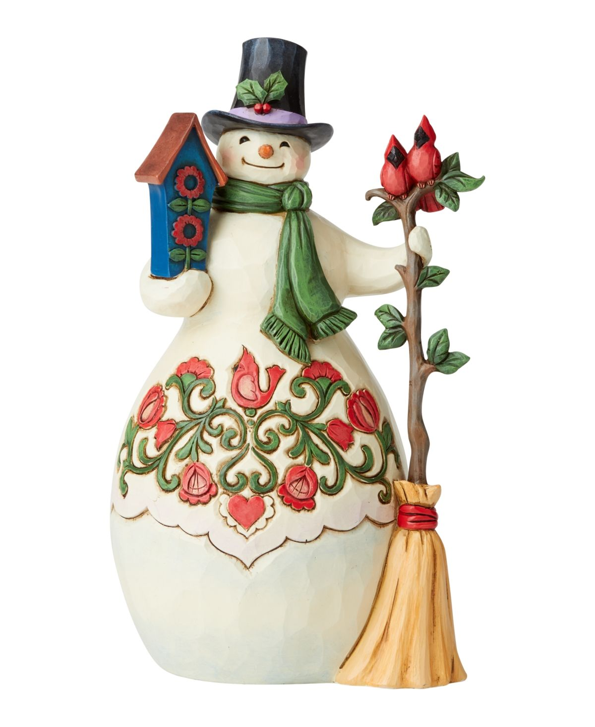 Jim Shore Snowman With Cardinal And Birdhouse Multi In 2021 Jim Shore Christmas Jim Shore Holiday Snowmen