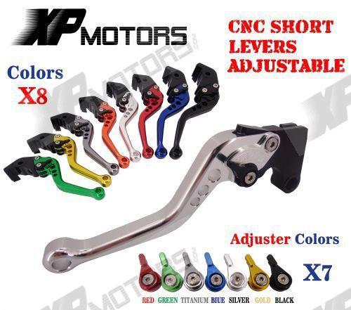 Short Brake /& Clutch Levers Pair Titanium Quality CNC SUZUKI GSXR 1000 2009-2015