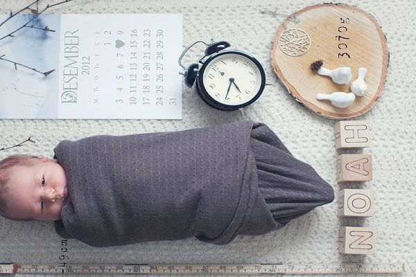 Story of birth through objects 15 Ideas for Creative Baby – Creative Birth Announcement