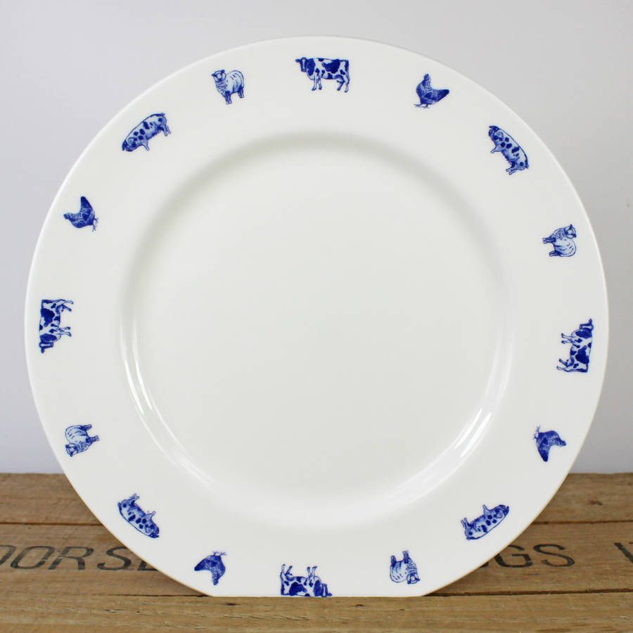 Farm Animals Fine Bone China Dinner Plate & Farm Animalsu0027 China Dinner Plate | Farming China and China plates
