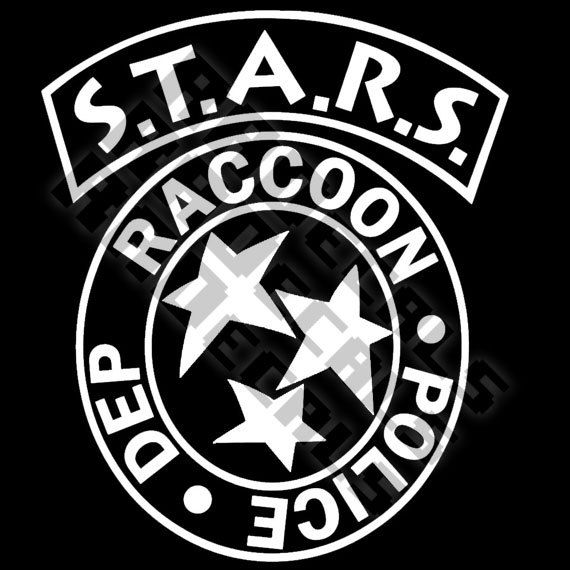 Raccoon City Police Department Stars Resident Evil By Radecals Distintivo Policial Jogos Cartaz