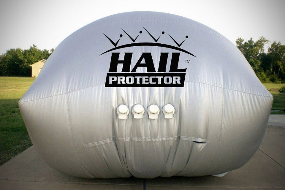 Hail protector automobile hail protection system