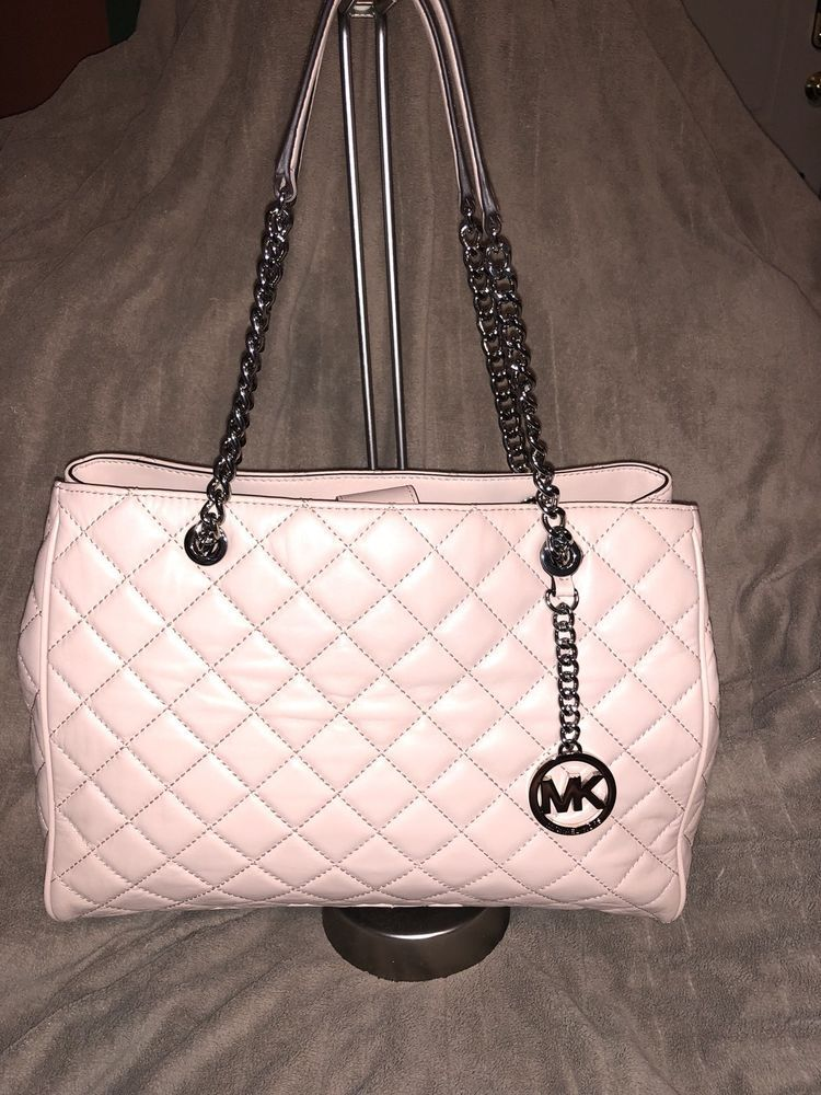 d9f878e349a82b Authentic Michael Kors Susannah Ballet Large Leather Handbag NWT $398 # MichaelKors #ShoulderBag