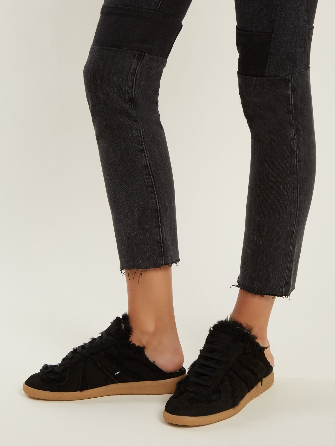 Click here to buy Maison Margiela Replica low-top shearling-lined backless  trainers at MATCHESFASHION.COM 10964049f