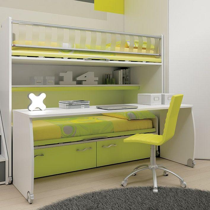 Litera logic smart con escritorio modular litera kids - Literas de diseno ...