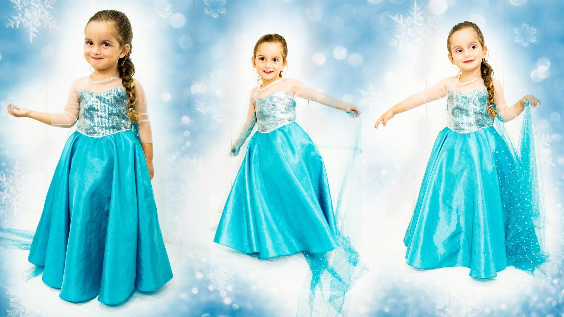 DIY: COSTURA VESTIDO ELSA- FROZEN: Vestido Inspirado[ Dress Elsa ...