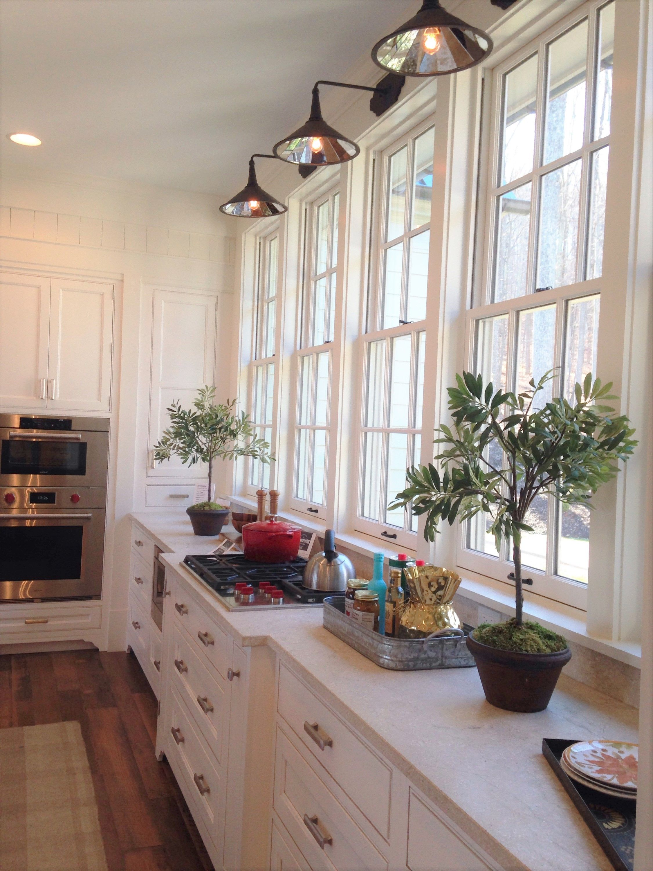 Southern Living Idea House 2015  Kitchen With Large Windows And Beautiful  Sconce Lighting. @