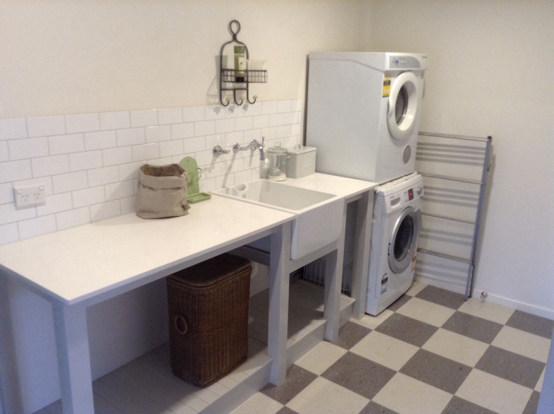 Country laundry with belfast sink laundry tub. http://www ...