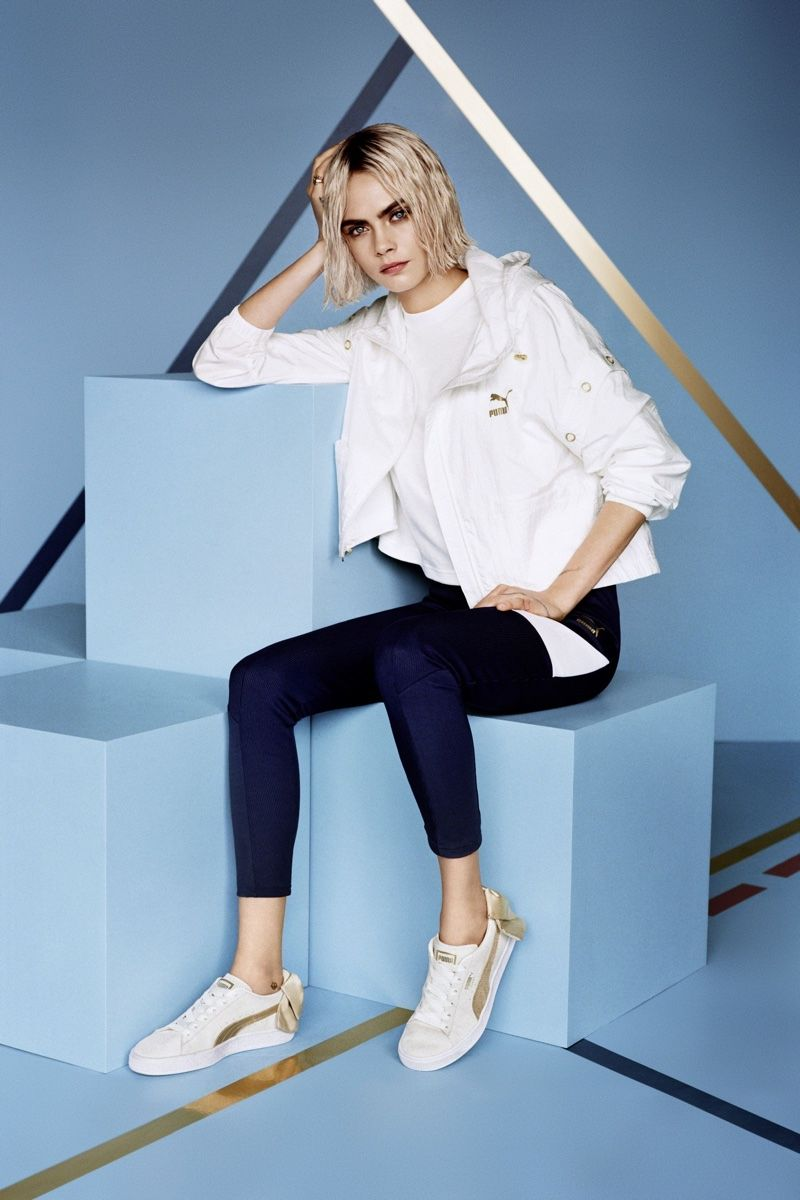 Cara Delevingne in the PUMA Basket | Sneakers N Stuff in