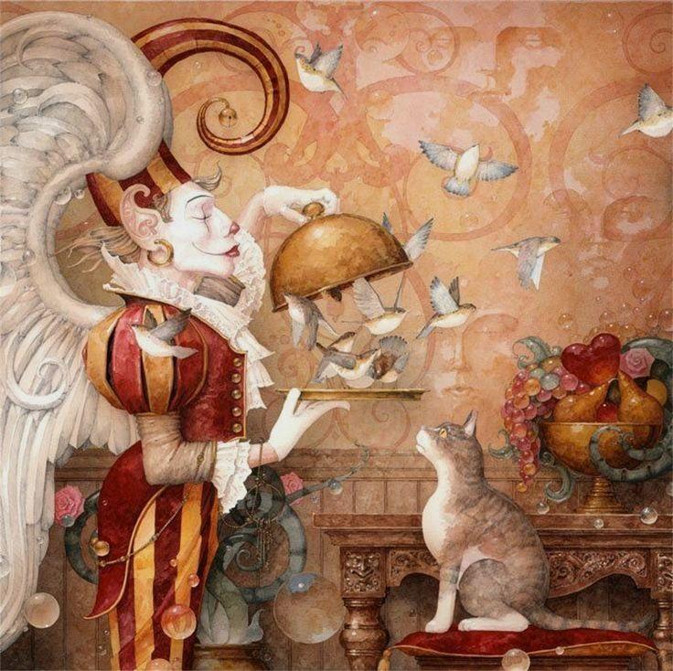 """The Tease"" ~ Daniel Merriam ~ Watercolorist Extraordinaire"