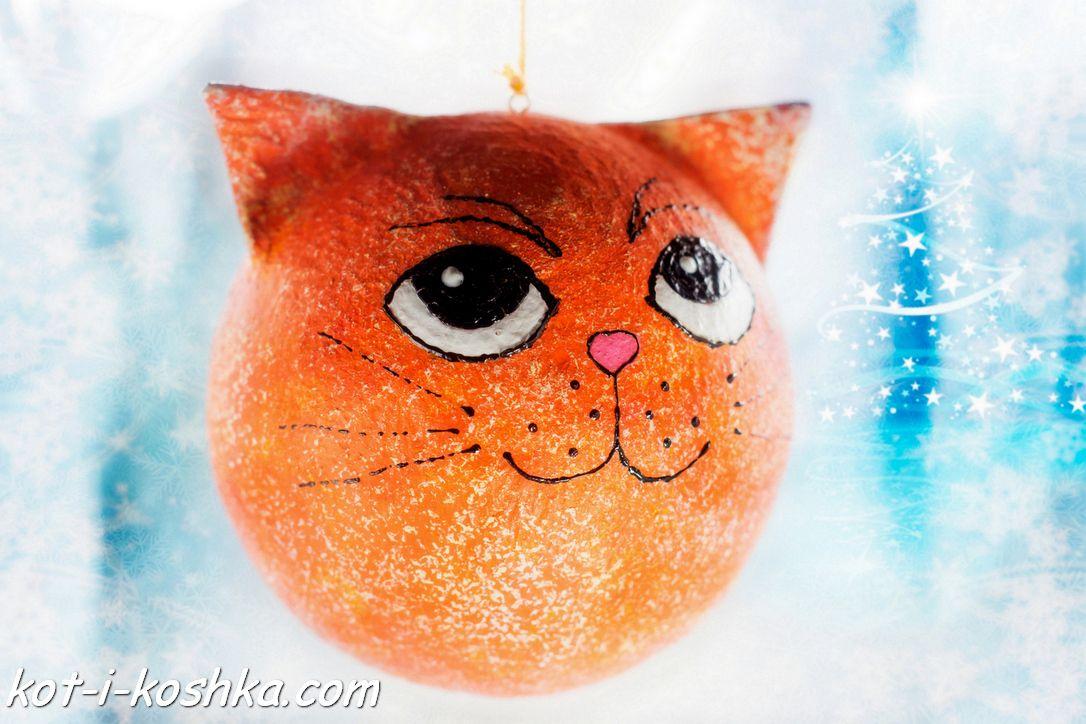 Ёлочная игрушка Кот | Кот и кошка | Кот, Кошки, Игрушки
