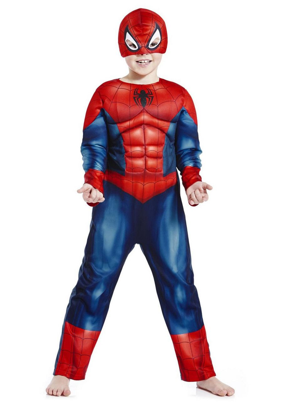 spiderman tesco dress up costume for 15 doing it for. Black Bedroom Furniture Sets. Home Design Ideas