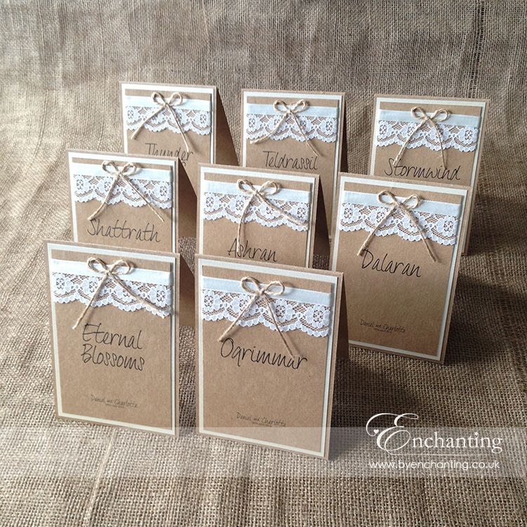 Rustic Wedding Stationery | The Thumbelina Collection - Table Names ...