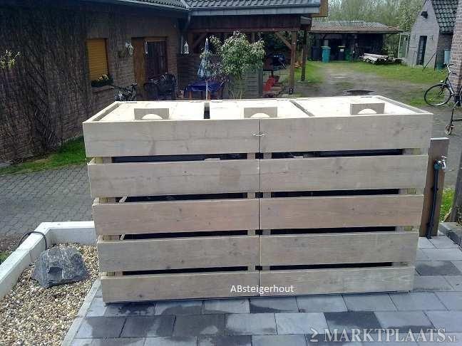 kliko ombouw van gebruikt steigerhout m lltonne pinterest tuin tuin meubelen und. Black Bedroom Furniture Sets. Home Design Ideas