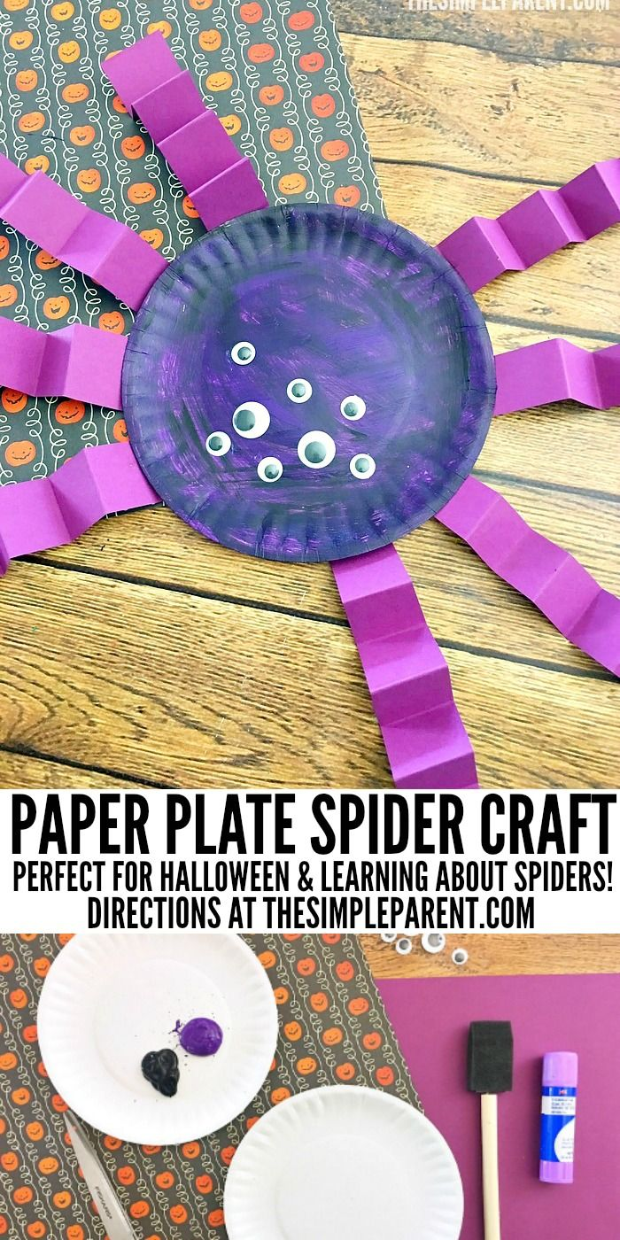 Spider paper plate craft for halloween that is cute easy to make spider paper plate craft for halloween that is cute easy to make jeuxipadfo Image collections