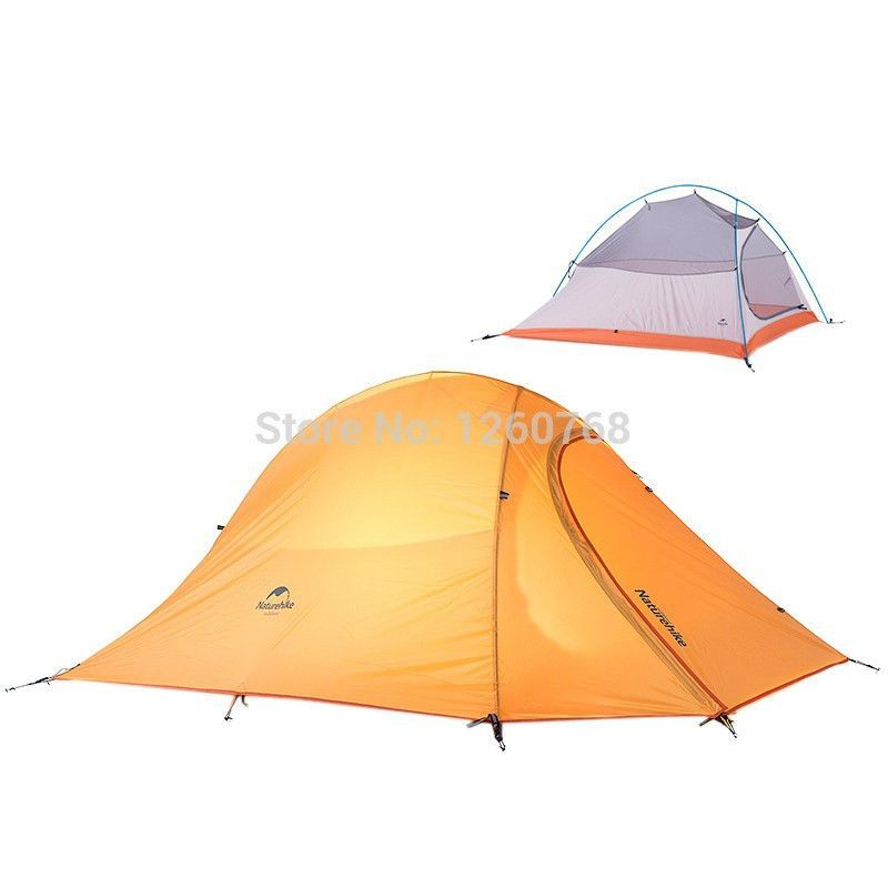 NatureHike 2 Person Tent 210T Plaid Fabric Tent Double-layer C&ing Tent Lightweight 4 seasons  sc 1 st  Pinterest & NatureHike 2 Person Tent 210T Plaid Fabric Tent Double-layer ...