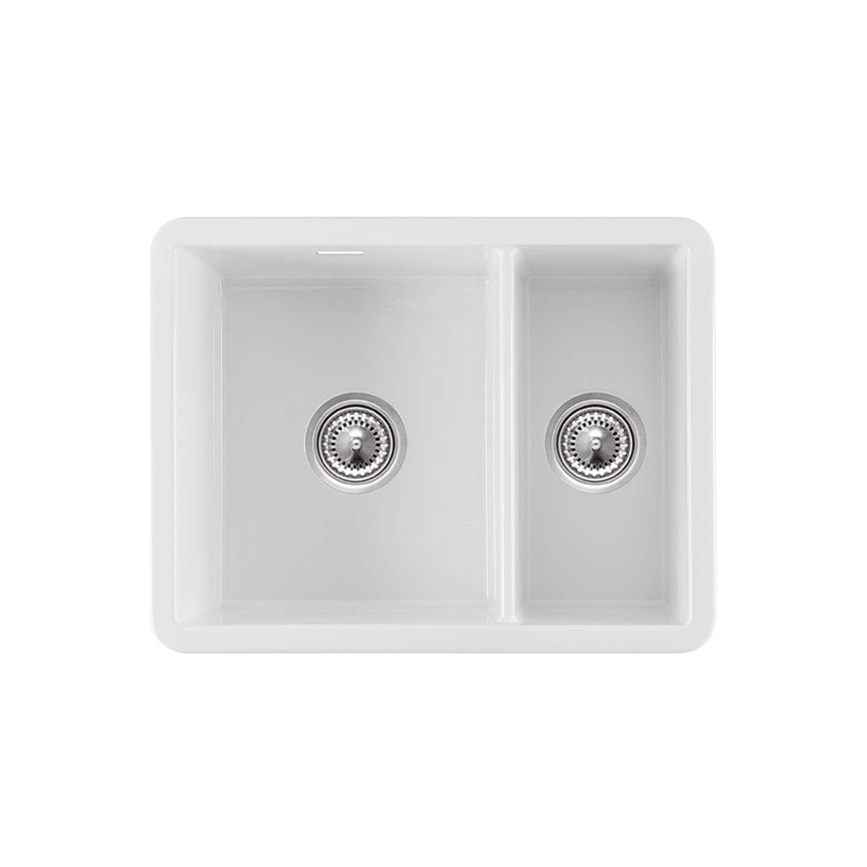 Clearwater Metro 1.5 Bowl Ceramic Kitchen Sink, White   Ceramic ...