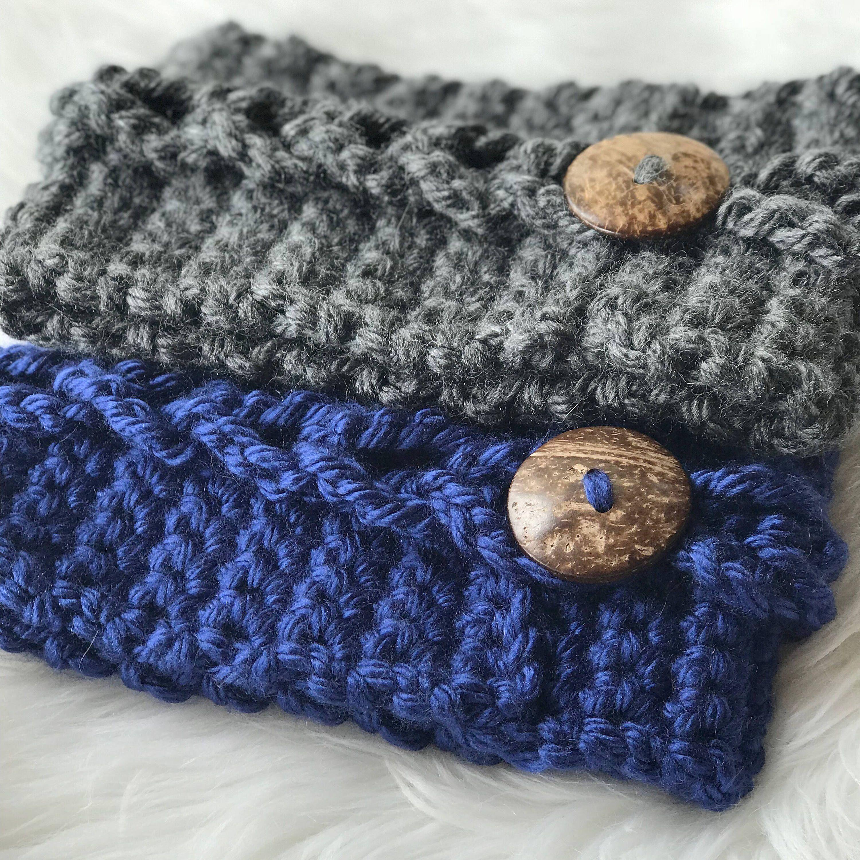 Crochet Headband Pattern, Earwarmer Pattern, Bulky Headwrap, Easy ...