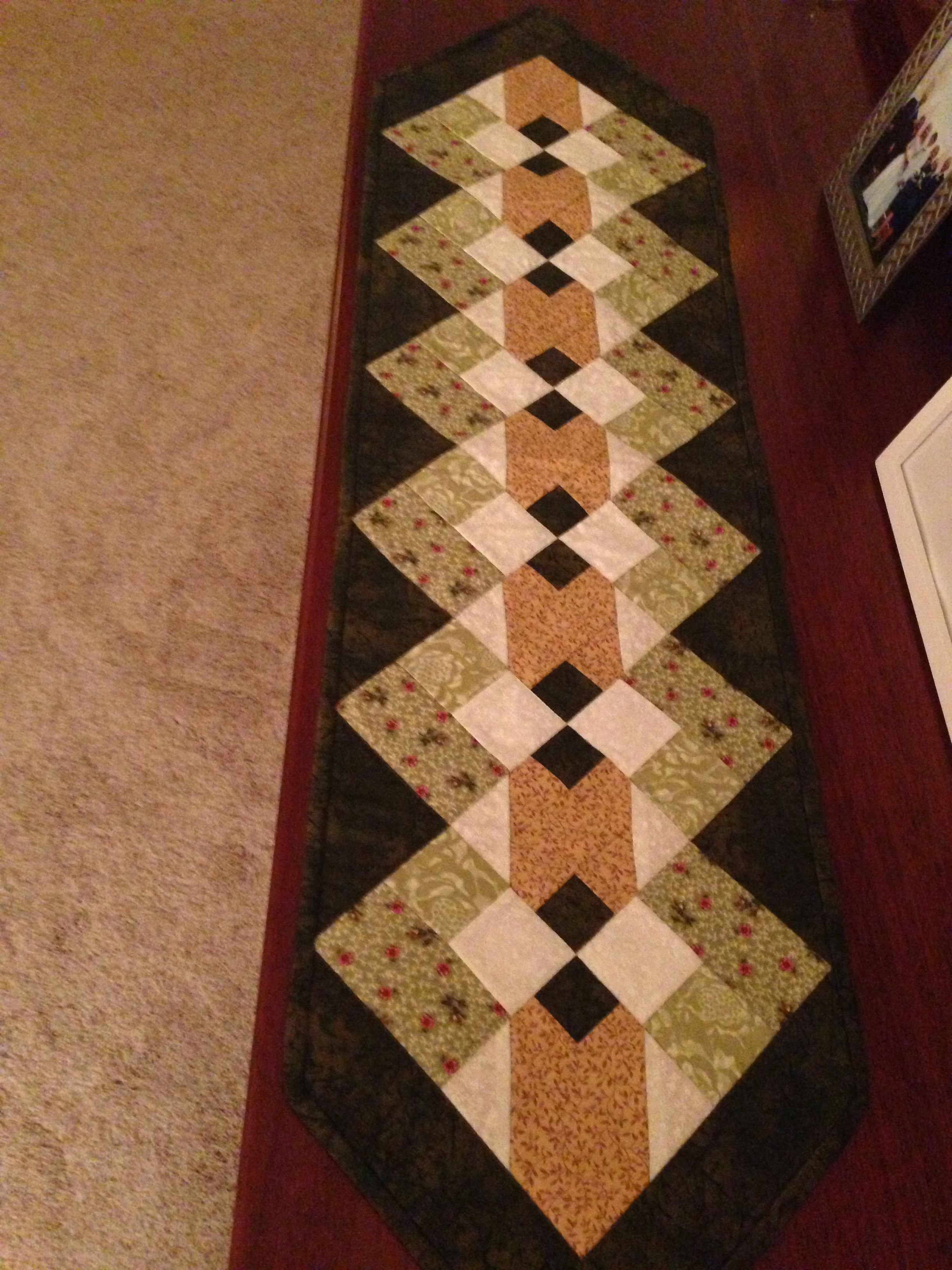 Spring quilted table runner Mantel Pinterest Quilt table