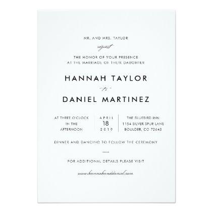 Simple Elegant Modern Wedding Invitation Card Marriage