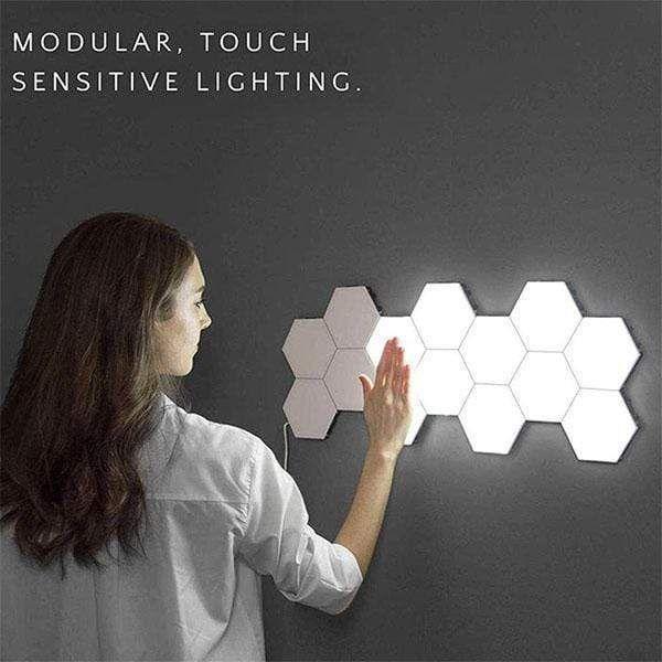LED Light Honeycomb Touch Wall Light (3pcs)