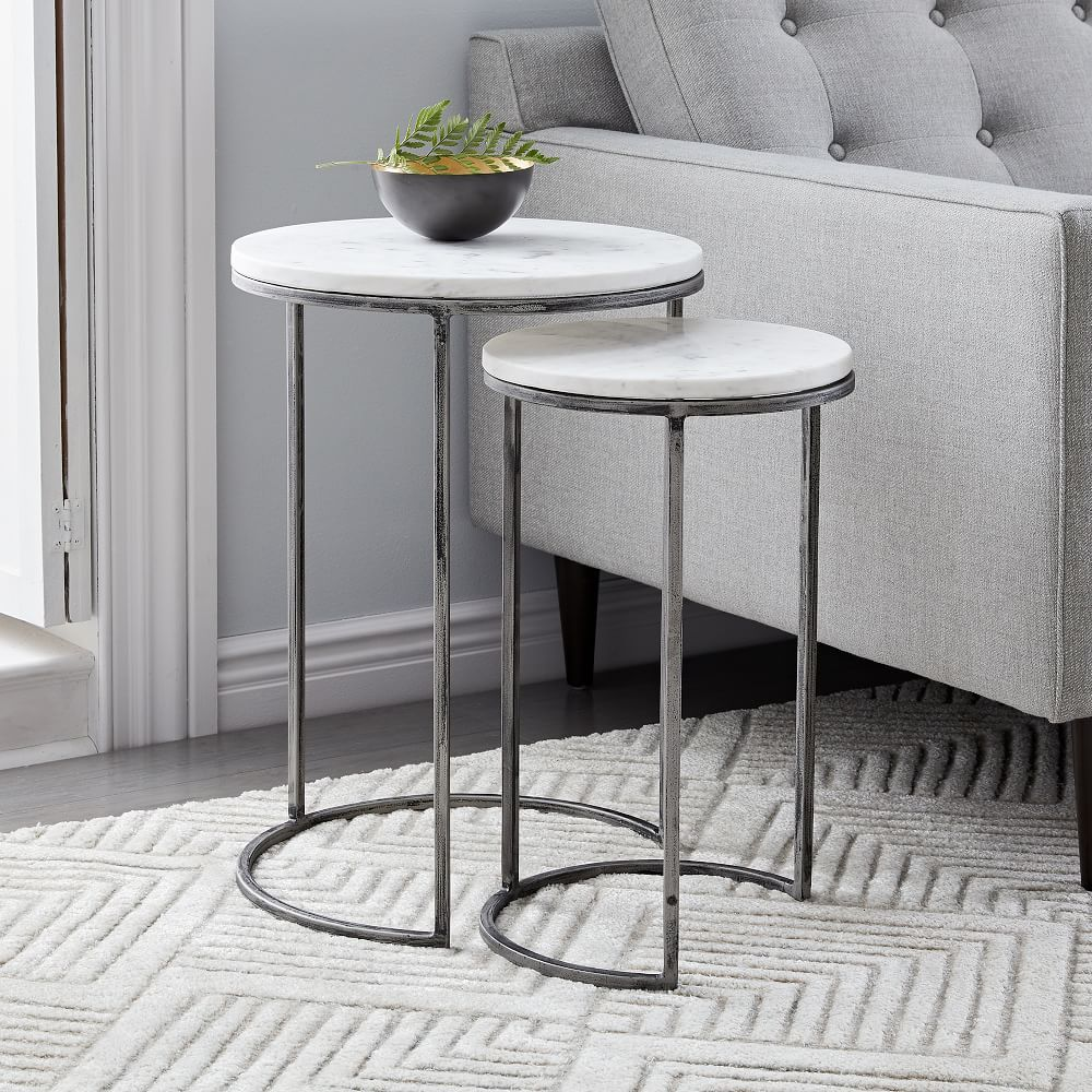 Small White Nest Of Tables