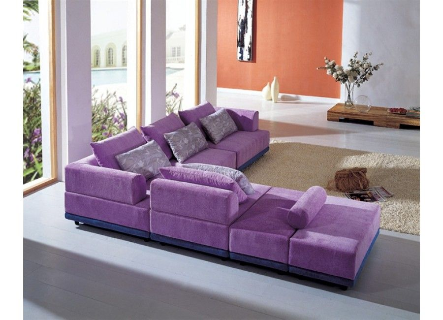 Modern Sectional Sofas For Living Rooms Purple Furniture